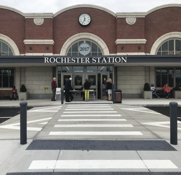 The new train station was unveiled with a ribbon cutting and cost roughly $30 million and three years to complete.