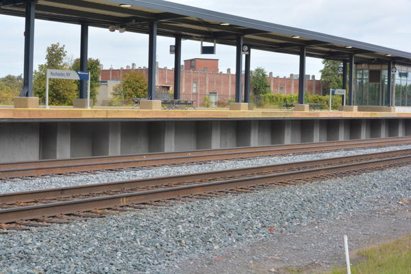 A view of the passenger tracks. There are two which means more trains can get in and out, improving the likelihood trains will be on time.