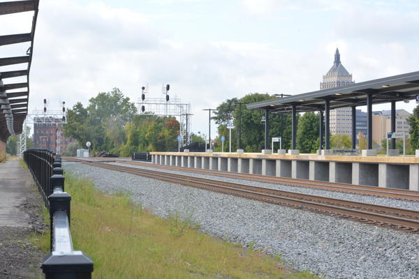 From the platform, patrons get sweeping views of Rochester. The idea was to be a great welcome for tourists and newcomers, said Governor Andrew Cuomo.