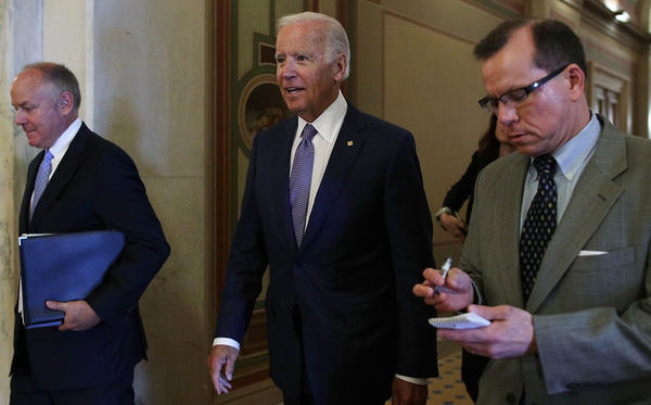 Former Vice President Joe Biden's recent flurry of events have raised questions about whether he is considering a 2020 presidential bid.