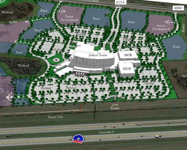 Florida Hospital presented it's vision for the 104-acre Lakeland purchase to Polk County officials.