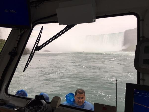 View from the Maid of the Mist wheelhouse