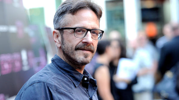"On his podcast, Marc Maron (pictured here in Los Angeles in 2013) often asks guests what their parents do. ""It's a very defining thing,"" he says."