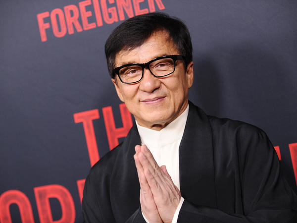 Jackie Chan attends the premiere of <em>The Foreigner</em> last week in Hollywood, Calif.