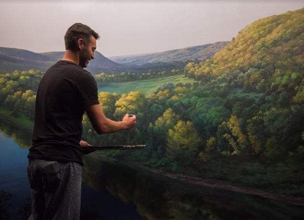 Artists spent months hand-painting murals in each diorama