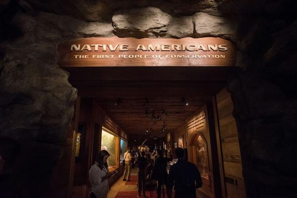 The first stop for visitors is through an exhibit dedicated to Native Americans, the first conservationists.