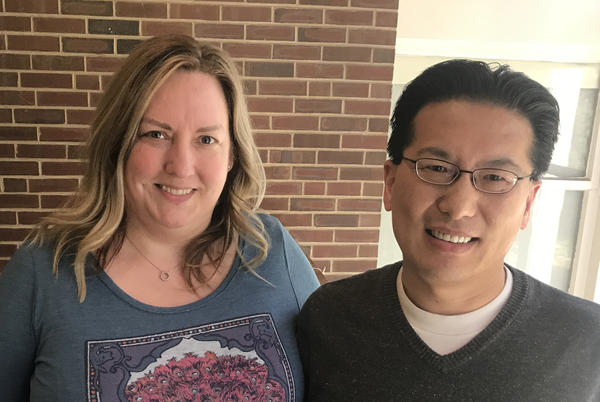 Heather and Ronnie Jia, both associate professors at Illinois State University.