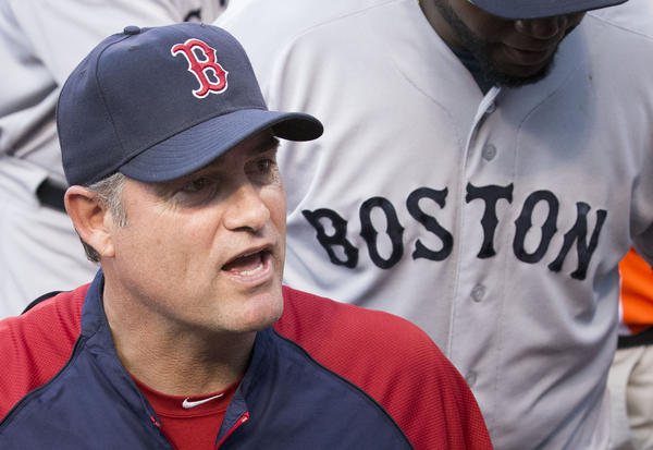 Red Sox Manager John Farrell, during a game in Baltimore in June 2013.