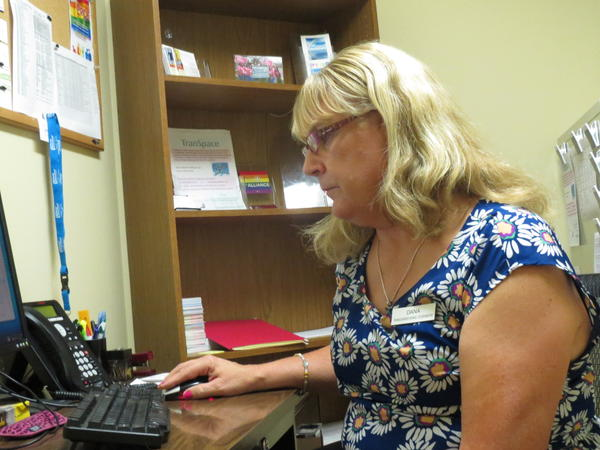 Dana Garber helps patients with transition-related medical care at the Peoria, Ill. Planned Parenthood