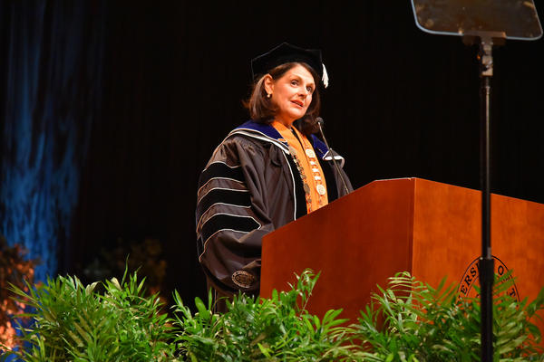 Beverly Davenport spoke about her vision for UTK at her investiture ceremony.