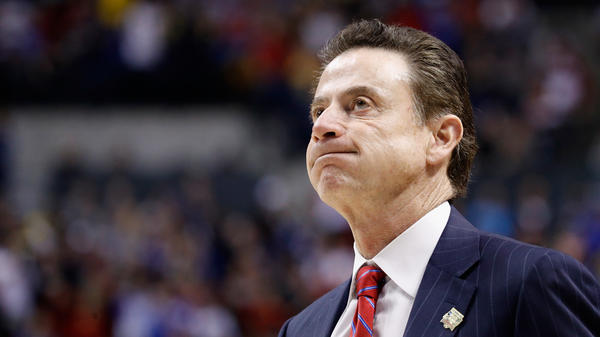 Rick Pitino, seen during Louisville's second-round loss in the 2017 NCAA men's basketball tournament.