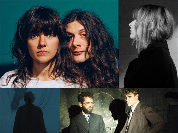 Clockwise from upper left: Courtney Barnett and Kurt Vile, Susanne Sundfør, MGMT, Dark Rooms
