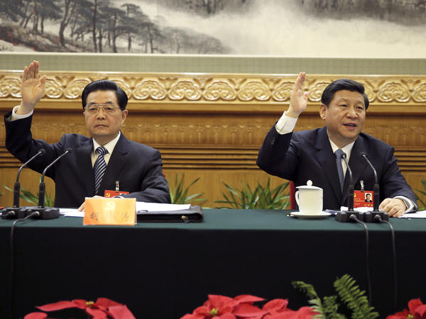 At the 18th party congress in 2012, Xi Jinping succeeded Hu Jintao (left) as China's top leader. He had spent five years as Hu's heir apparent, but at the time was not closely associated with any specific policy, phrase or ideological position.