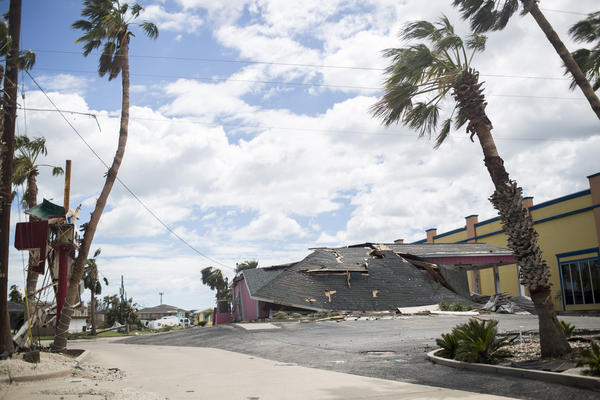 Hurricane Harvey damage in Port Aransas, Texas.
