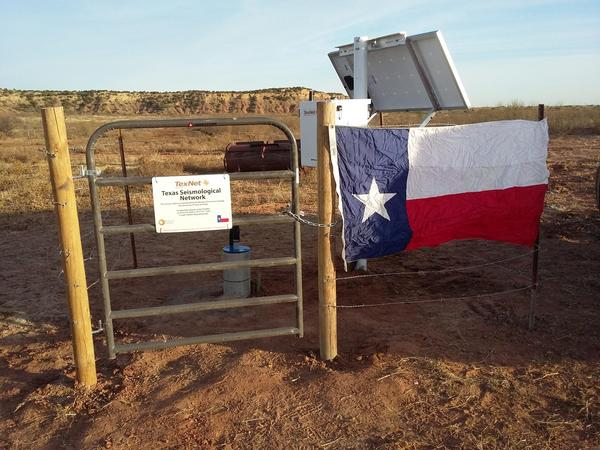 Seismic-monitoring stations across Texas, like this one near Post, record earthquakes' strength and depth.