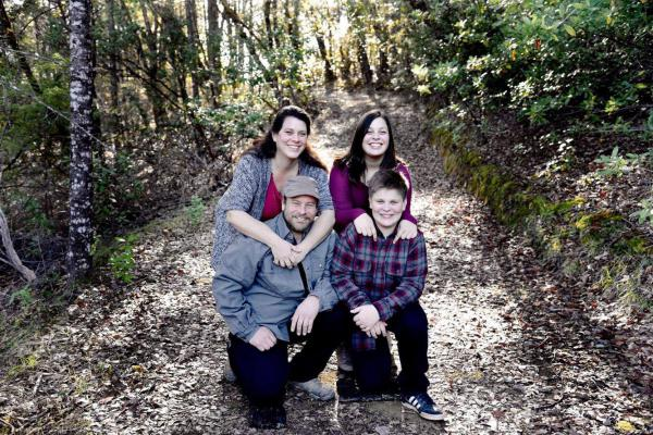 Only three members of the Shepherd family of Redwood Valley, California, were able to escape a wildfire near their home on Monday, and are now hospitalized with serious burns. The youngest Shepherd, 14-year-old Kai, died of his injuries after trying to flee. Pictured clockwise from left to right: Sara Shepherd, Kressa Shepherd, Jon Shepherd and Kai Shepherd. (Courtesy of Mindi Ramos)