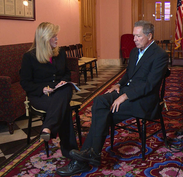 Karen Kasler talked with Gov. John Kasich in his Cabinet Room.