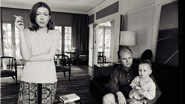 Joan Didion, John Gregory Dunne and their daughter, Quintana Roo Dunne, are the subject of the documentary <em>Joan Didion: The Center Will Not Hold</em>.