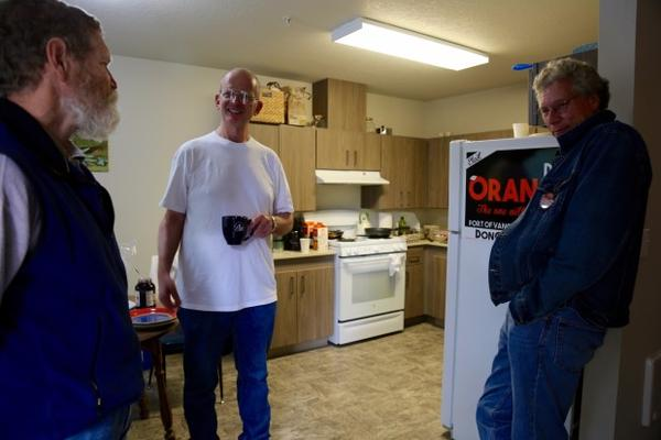 <p>Don Orange is a candidate for Vancouver Port Commissioner District 1. On a recent morning, Orange had a breakfast meeting at his home with volunteers and campaign organizers.</p>