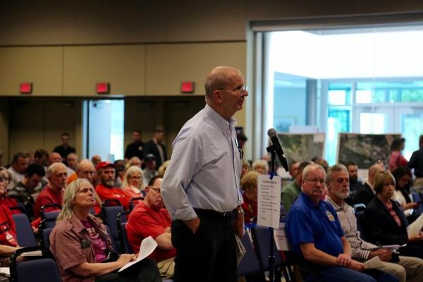 <p>Port commissioner candidate Don Orange is a familiar face at port meetings and has testified several times against the Vancouver Energy oil terminal.</p>