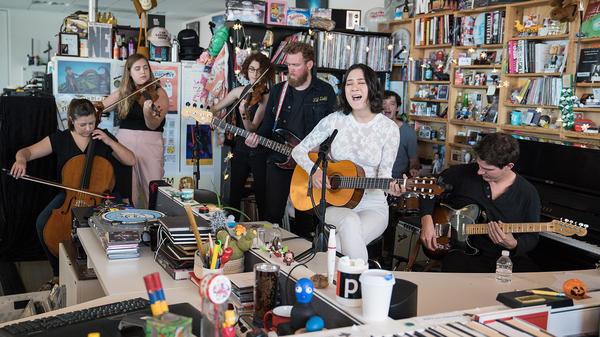 Japanese Breakfast performs a Tiny desk Concert on Sept. 7, 2017. (Christina Ascani/NPR)