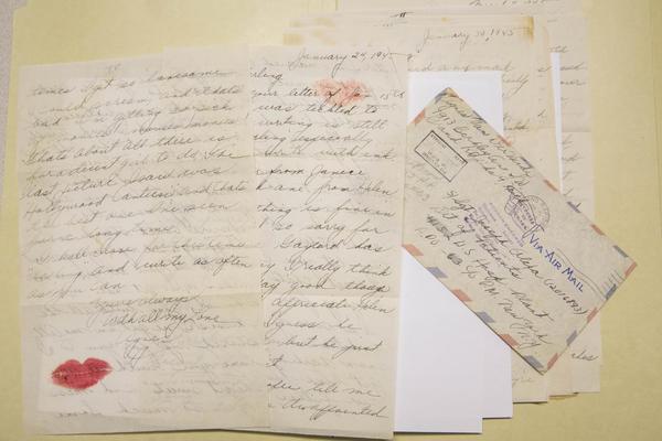 Correspondence between Joseph Olexa of Detroit and Agnes Van Der Weide of Grand Rapids around World War II.