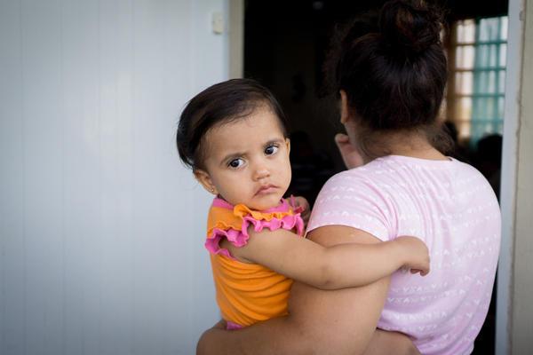 Beniquez's granddaugther Kamila Rubi Rios Beniquez, 1, and her mother, Astrid Beniquez.