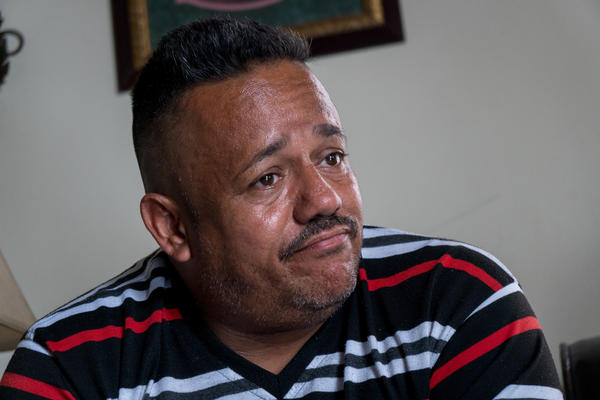 Eugenio Beniquez, 46, a pastor from Seburuquillo, talks about his planned move to Florida caused by Hurricane Maria's destruction.
