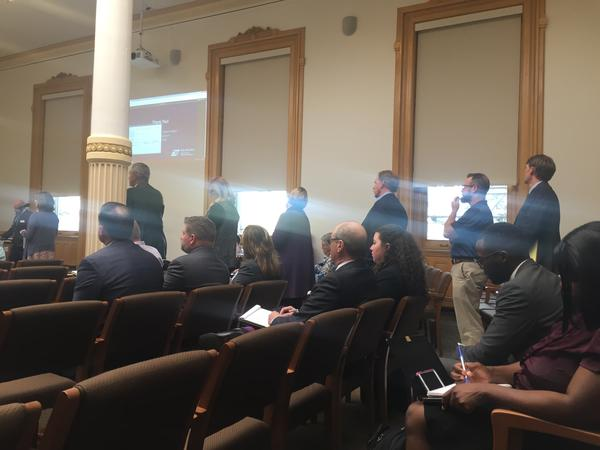 People came to the state capitol to talk about how the rising health insurance premiums are negatively impacting them.