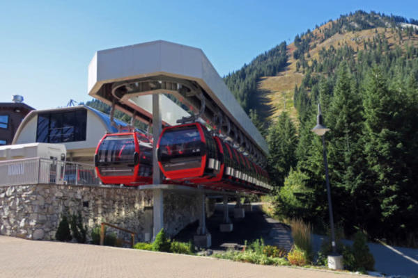 <p>The gondola at Crystal stands ready to begin its winter season. In the future, Crystal may expand snowmaking to its upper mountain.</p>