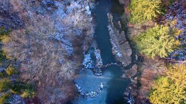 "Jeremy Bible's aerial cinematography captures Ohio's beauty in a video for the High Aura'd track ""Black Grasshopper."""