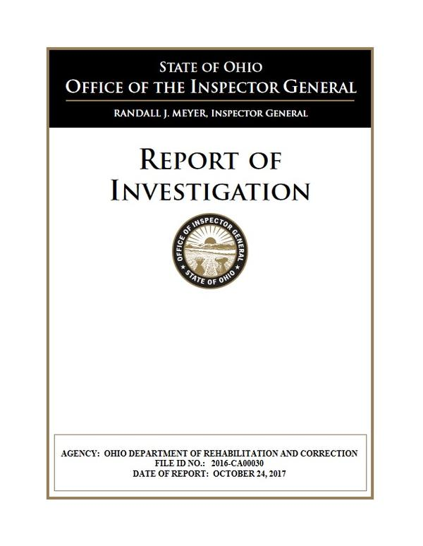 Front page of Inspector General's report