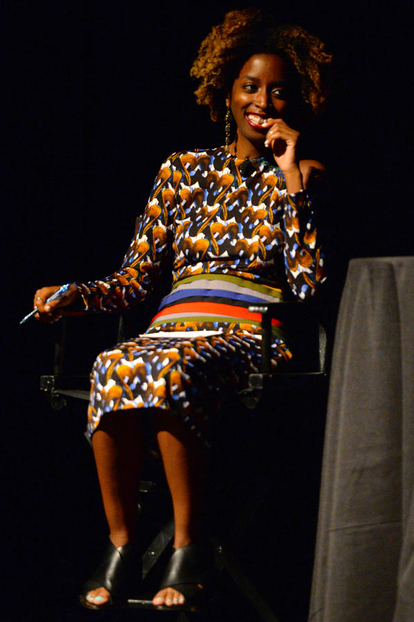 Alexis Okeowo speaks at the 2017 New Yorker Festival at Gramercy Theatre on Oct. 6 in New York City.