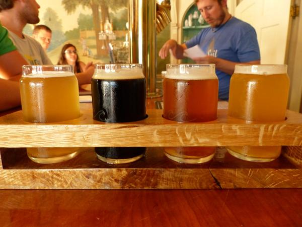 A selection of beers on tap at Grey Sail Brewing, Westerly, RI. (Tom Verde for NENC)