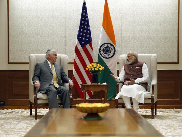 Secretary of State Rex Tillerson met with Indian Prime Minister Narendra Modi in New Delhi on Oct. 25.