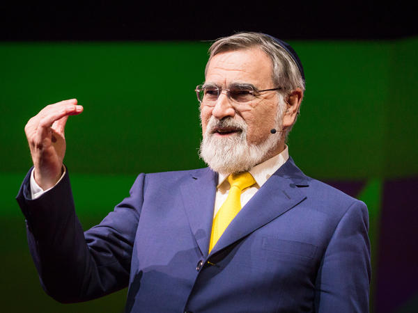 Rabbi Jonathan Sacks on the TED stage