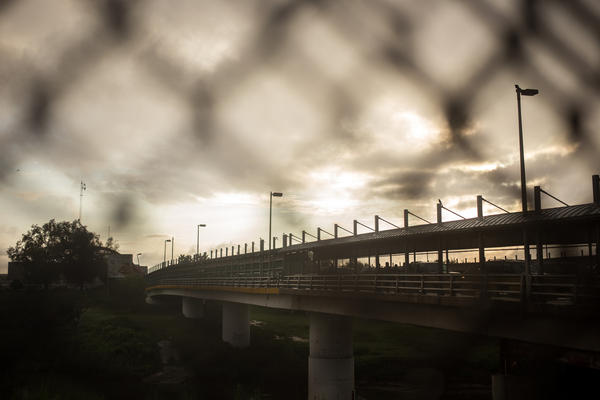 The Gateway International Bridge crosses over the Rio Grande from Brownsville, Texas, to Matamoros, Tamaulipas, in Mexico.