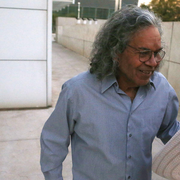 Billionaire founder of Insys Therapeutics John Kapoor leaves U.S. District Court after being arrested earlier Thursday in Phoenix. Kapoor and other defendants in the fraud and racketeering case are accused of offering bribes to doctors to write large numbers of prescriptions for a fentanyl-based pain medication meant only for cancer patients with severe pain.
