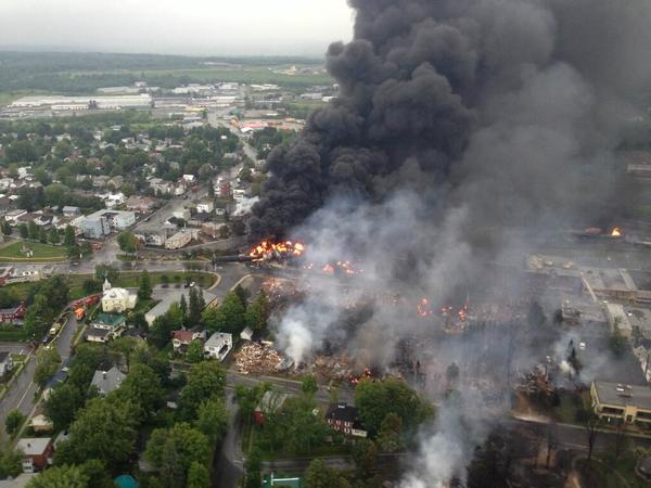 Fire following derailment at Lac-Megantic, Quebec