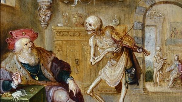 Frans Francken's <em>Death Playing the Violin. </em>In music theory, the tritone came to be known as the devil's interval.