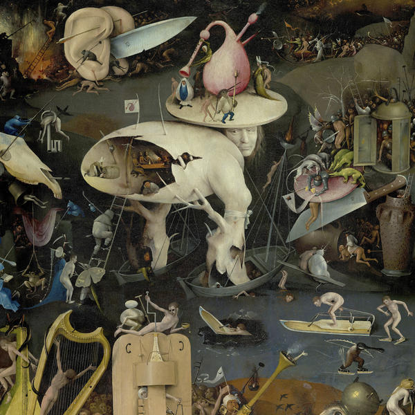 "The cover art for <em>One Nation Underground</em> comes from a painting called ""Garden of Earthly Delights"" by medieval painter Hieronymus Bosch."