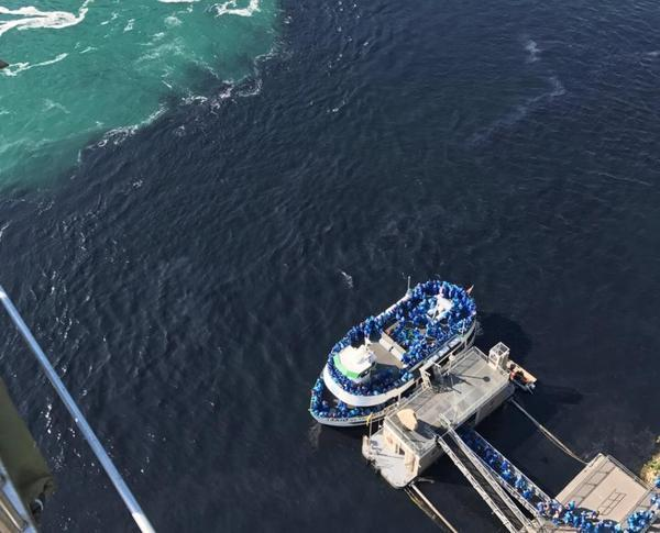 """The Blob"" -- Discharges from a Niagara Falls, N.Y., water treatment plant discolored the Niagara River near the famous tourist attraction -- and sparked criticism from state and Canadian officials."