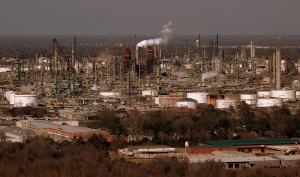 An Exxon Mobil chemical plant outside Baton Rouge, LA.