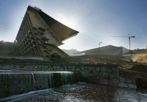 Estadio Municipal de Braga, designed by Eduardo Souto de Moura.