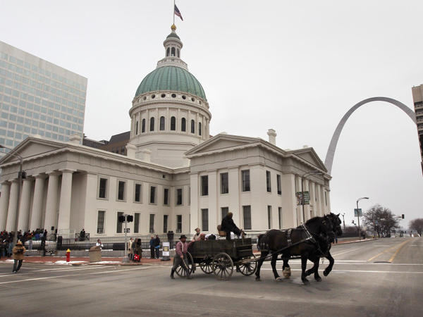 St. Louis, whose location on the Mississippi River made it a hub for the sale of slaves, marked the Civil War sesquicentennial by re-enacting a slave auction in January. Missouri officials hope the anniversary will draw more attention to the state's Civil War history.