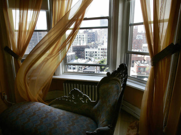 The view from Madonna's former room at the  Chelsea Hotel, where she lived after coming to New York in the early  1980s.