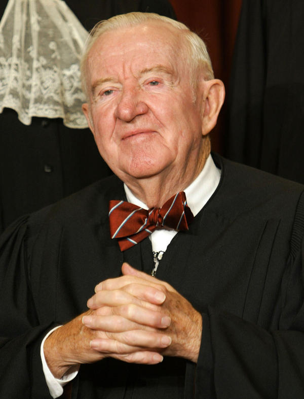 <p>John Paul Stevens, shown in 2003, served on the Supreme Court from 1975 to 2010.</p>