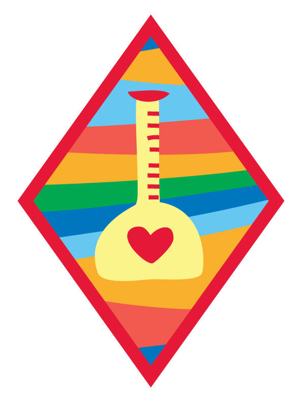 """<p>The """"Science Of Happiness"""" badge.</p>"""