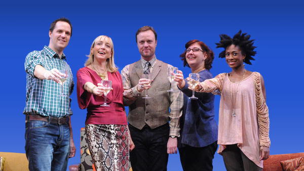 <em>The Book Club Play, </em>revamped by author Karen Zacarias as part of her residency in the American Voices New Play Institute at Arena Stage, is a comedy about life, love and literature.The cast included (from left) Eric Messner, Kate Eastwood Norris, Tom Story, Ashlie Atkinson and Rachael Holmes.