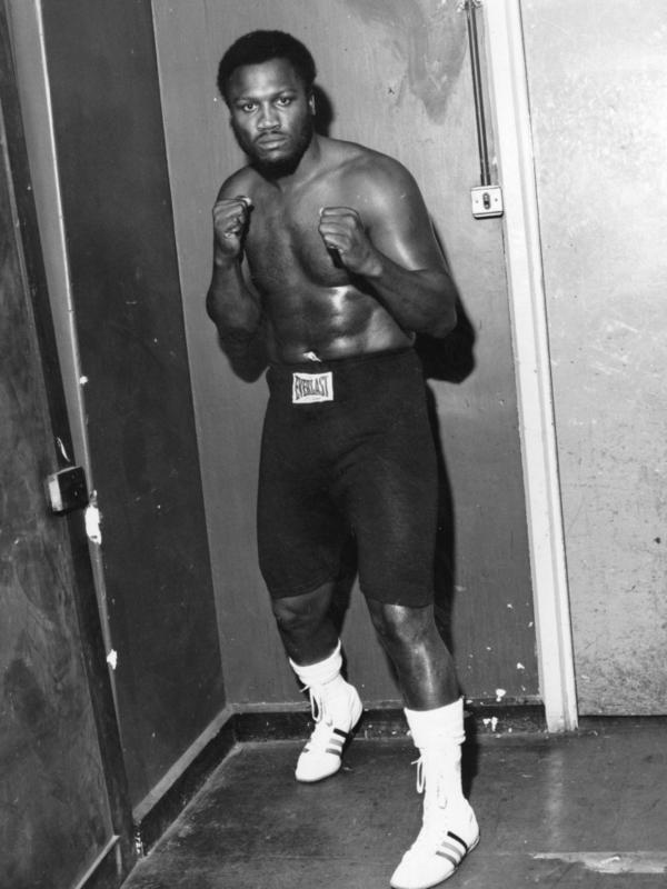"""Smokin' Joe"" Frazier in training before a world title fight."